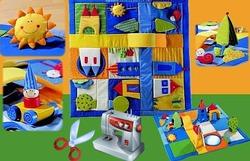 Как сделать детский развивающий коврик